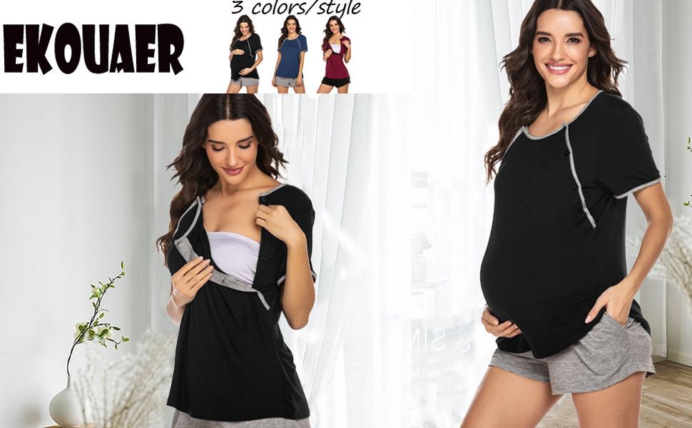 Labor Pregnancy Sleepwear for Hospital