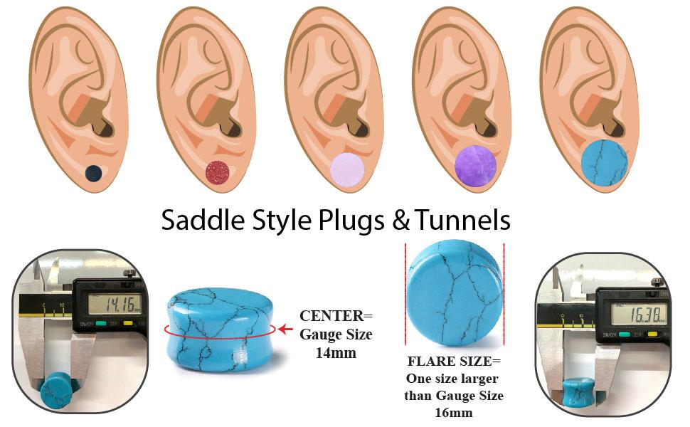 stone saddle plugs sizing chart