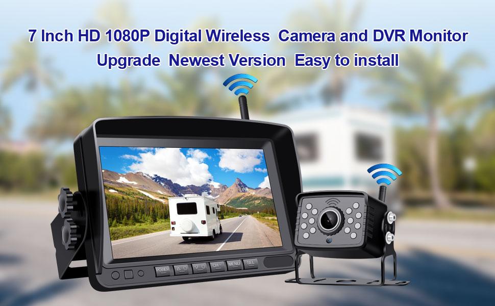 7 inch AHD 1080P digital wireless camera