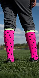 Watermelon Softball Socks