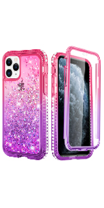 iphone 11 pro max case with built in screen protector
