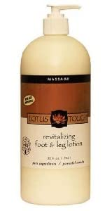 Lotus Touch Revitalizing Foot And Leg Lotion, Multiple Sizes