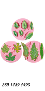 Assorted Leaf Molds 3-count