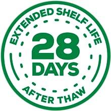 28 days shelf life