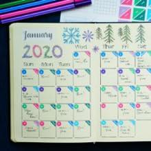 bullet journal, planner stickers, bullet journal supplies, bullet journal stencils, monthly calendar