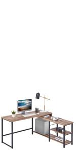 L shaped Corner Computer writing desk office