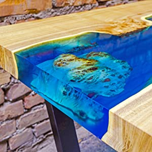 epoxy resin crystal clear river table bar top table top countertop casting resin kit wood crafts art
