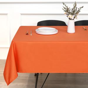 orange tablecloth