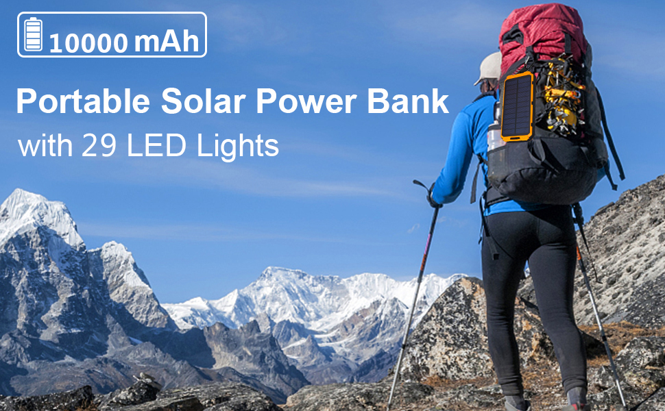 portable solar charger 29 leds