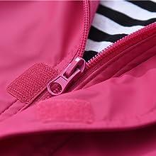 kids waterproof raincoat zipper closure