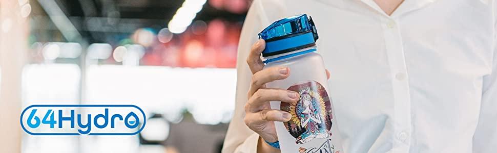64hydro water tracker bottle