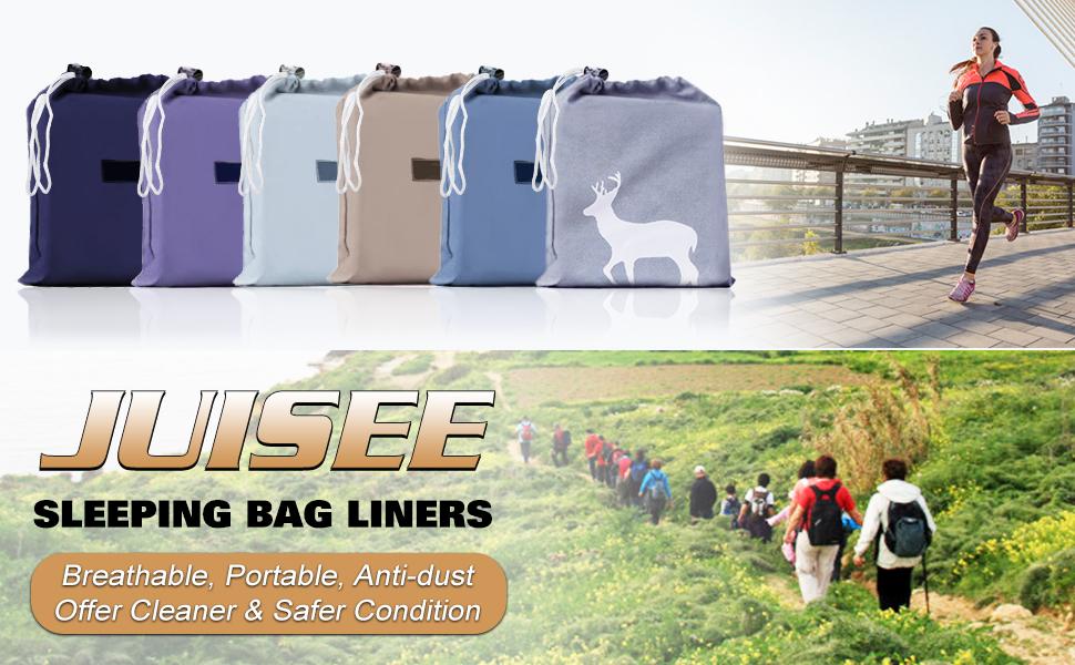 TRIWONDER Sleeping Bag Liner Cotton Camping Travel Sheet Sleep Sack Adult for Hostels Outdoor Picnic Planes Trains