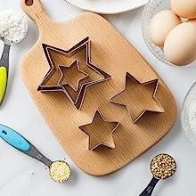 stars cookie cutters