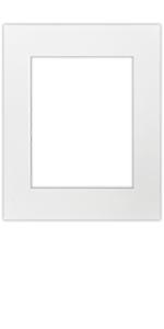 16x20 white matting pre cut white core 4 ply