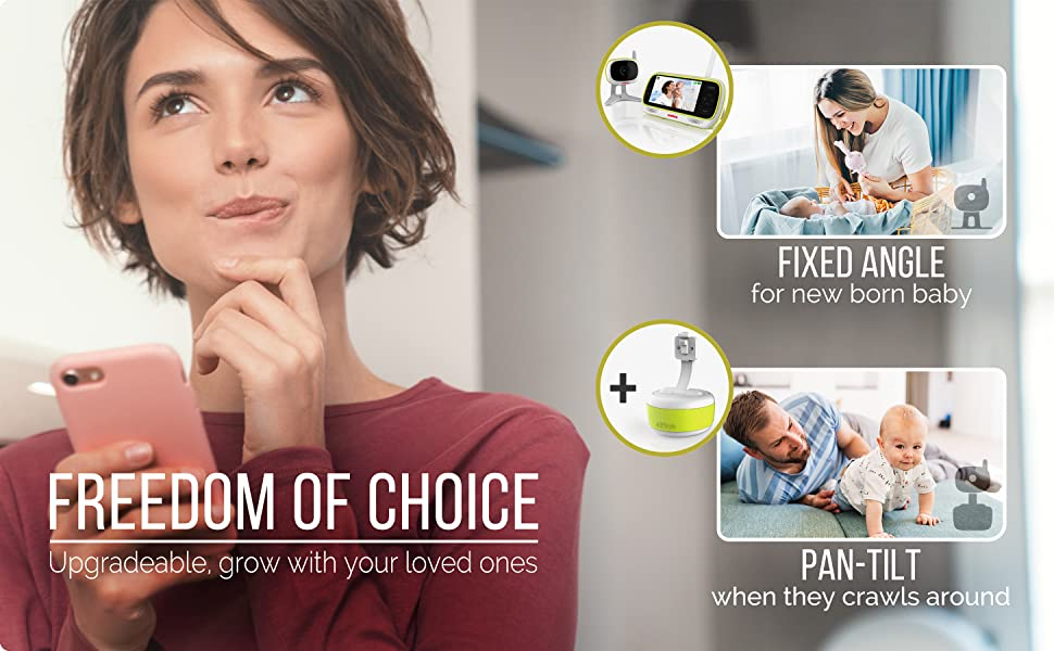 Freedom of Choice. Upgradeable, grow with your loved ones.