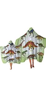 Sleepwish Dinosaur Hooded Bath Towel