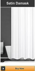waterproof striped shower curtain liner