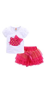 girls tutu skirt set