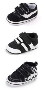 Unisex Baby Boy Girl Canvas Sneaker Soft Sole Ankle Infant First Walkers Crib Shoe…