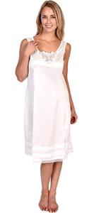 slip half slip full snip it cut length white natural black dress skirt gown static panty line silk
