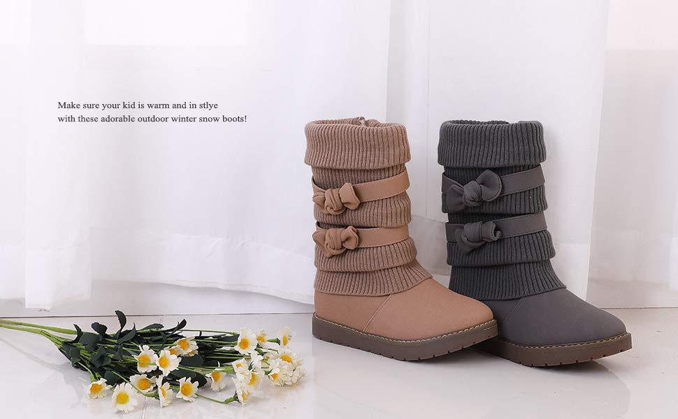 Dream Pairs Girls Snow Boots