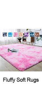 abstract shaggy area rug