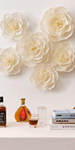 crepe paper flowers wedding flowers backdrop giant paper flowers baby shower flowers wall flowers