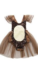 Baby Girls Reindeer Tutu Romper