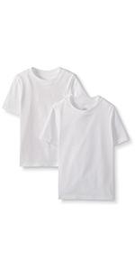 Boys Organic Cotton SS Undershirt 2pk