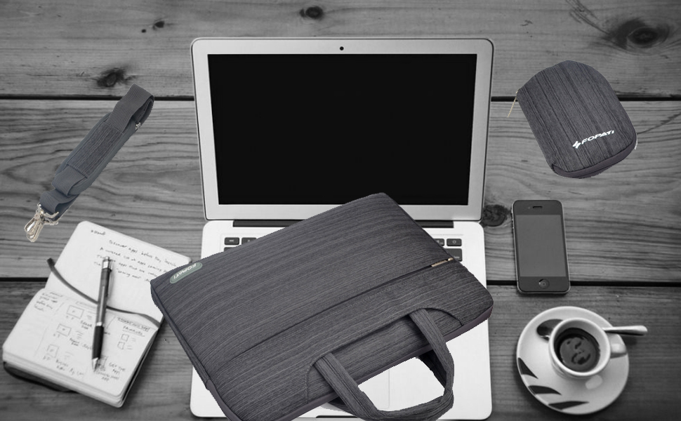 Qishare 15.6 16inch Laptop Case, Laptop Shoulder Bag, Multi-functional Notebook Sleeve