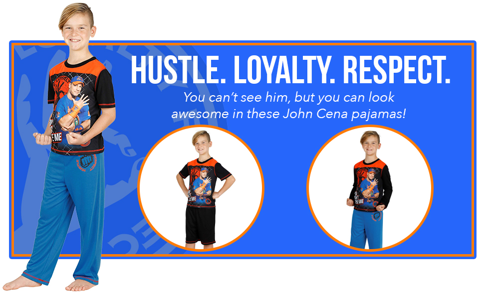 John cena pajamas long sleeve short sleeve