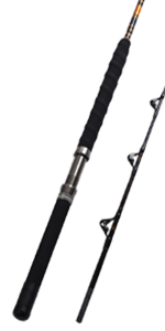 1-Piece/2-Piece Saltwater Offshore Heavy Trolling Rod Big Game Roller Rod