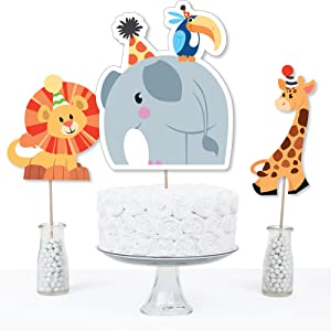 Jungle Party Animals Safari Zoo Baby Shower Birthday Bday Party Table Toppers Centerpiece
