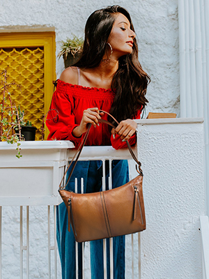 Leather purses and handbag
