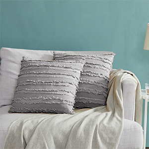 decorative silver grey pillow cover