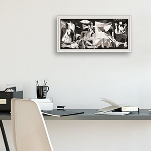 Guernica by Pablo Picasso - White Frame