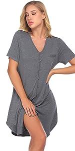 button sleep shirts