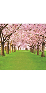 Pink Flower Tree Backdrop