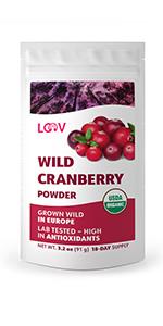 Organic wild cranberry powder