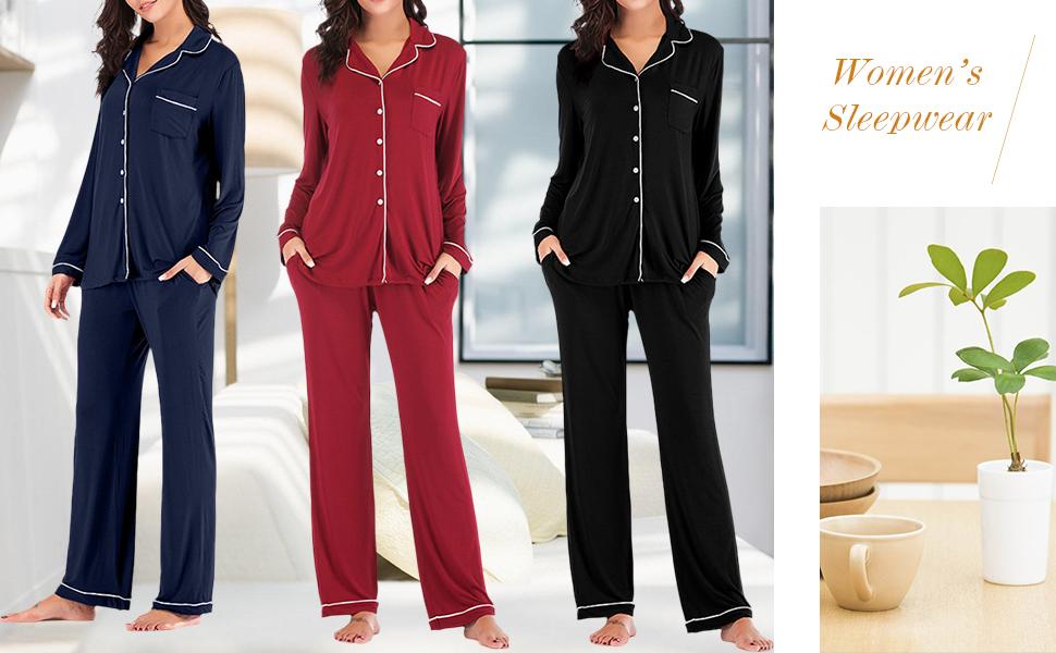 Button Down  Pajamas Set