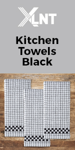 black kitchen towel