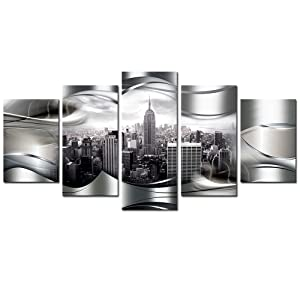 New York City Wall art Canvas White