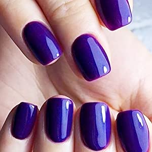 pink purple gel nail polish