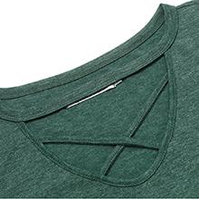 green t-shirt tops for women
