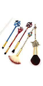 5Pcs Profession Avengers Makeup Brushes
