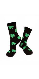 st patricks socks shamrock