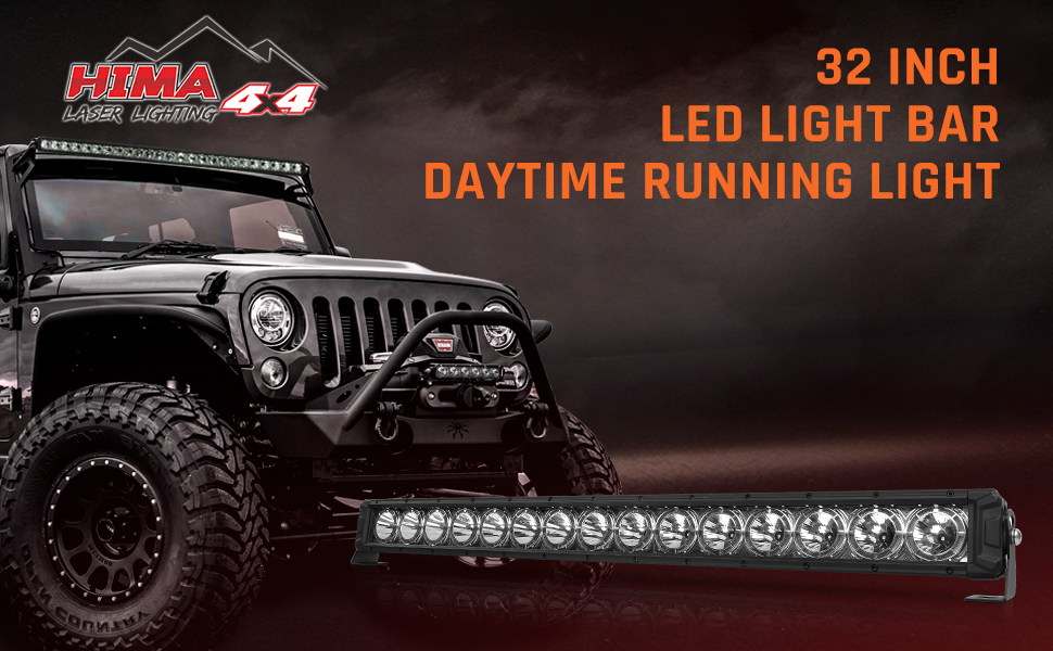 32inch single row led light bar