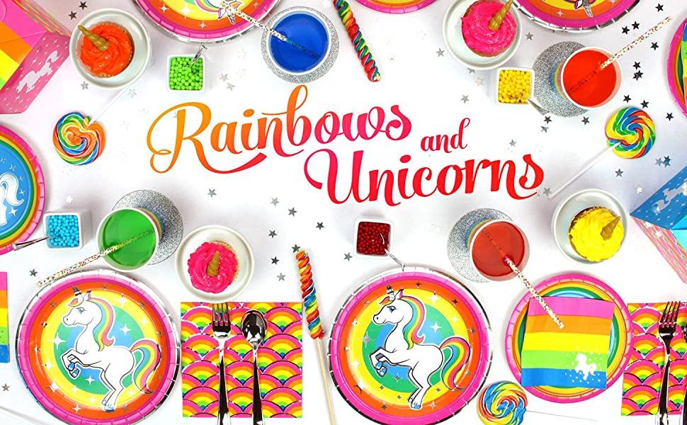 Rainbow Unicorn Party Table Header Image