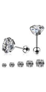 round dot earrings