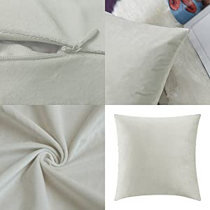 cream white covers 16x16,cream white pillow covers 18x18,cream white pillow covers 20x20